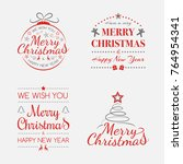 concept of colourful christmas... | Shutterstock .eps vector #764954341