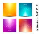 square covers template with dna ... | Shutterstock .eps vector #764955121
