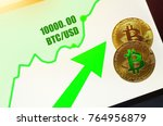 bitcoin breaks  10 000  barrier ... | Shutterstock . vector #764956879