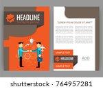 vector business flyer  magazine ...   Shutterstock .eps vector #764957281