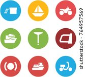 origami corner style icon set   ... | Shutterstock .eps vector #764957569