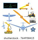 airplane assembly or repair... | Shutterstock .eps vector #764958415