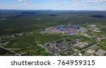 aluminum metallurgical plant... | Shutterstock . vector #764959315