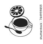 hand drawn food illustration.... | Shutterstock .eps vector #764959855