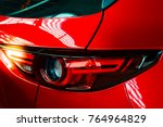 car tail light red color for... | Shutterstock . vector #764964829