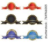 luxury premium golden badge... | Shutterstock .eps vector #764966005