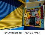 bain boeuf  mauritius april 25  ... | Shutterstock . vector #764967964
