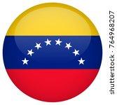 venezuela flag glossy button | Shutterstock .eps vector #764968207