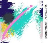 splash brush strokes seamless... | Shutterstock .eps vector #764968645