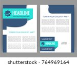 vector business flyer  magazine ...   Shutterstock .eps vector #764969164