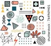 vector doodle design elements.... | Shutterstock .eps vector #764969401