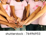 breast cancer awareness women... | Shutterstock . vector #76496953