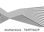 black and white stripe line... | Shutterstock .eps vector #764976619