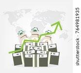 vector growth concept in flat... | Shutterstock .eps vector #764981935