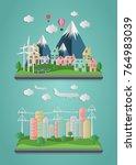 modern  of urban landscape....   Shutterstock .eps vector #764983039