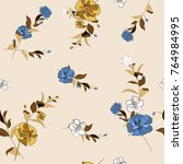 trendy  floral pattern in the... | Shutterstock .eps vector #764984995