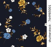 trendy  floral pattern in the... | Shutterstock .eps vector #764985001