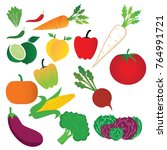 vector  design  vegetable  icon ... | Shutterstock .eps vector #764991721