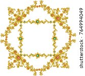 gold vintage baroque element... | Shutterstock .eps vector #764994049