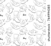 vector illustration of hand... | Shutterstock .eps vector #764994385