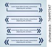 modern geometrical quotation... | Shutterstock .eps vector #764997547