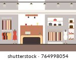 interior of a modern and... | Shutterstock .eps vector #764998054