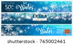 winter banner set. colorful...