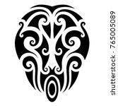 tattoo maori designs. art... | Shutterstock .eps vector #765005089