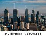 montreal skyline in autumn ... | Shutterstock . vector #765006565