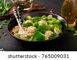 baked meatballs of chicken... | Shutterstock . vector #765009031