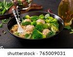 baked meatballs of chicken... | Shutterstock . vector #765009031