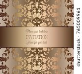 vintage baroque wedding... | Shutterstock .eps vector #765009961