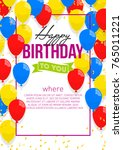 happy birthday vector... | Shutterstock .eps vector #765011221