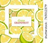square white frame and... | Shutterstock .eps vector #765012379