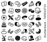 bakery icon collection   vector ... | Shutterstock .eps vector #765013714