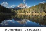 Mountain Forest Lake Reflectio...
