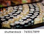 catering wedding buffet for... | Shutterstock . vector #765017899