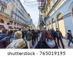 vienna  austria   november 2017 ... | Shutterstock . vector #765019195
