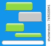 vector phone chat bubbles.... | Shutterstock .eps vector #765020041