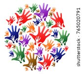 caring hands circle background | Shutterstock .eps vector #765020791
