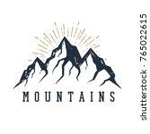 hand drawn inspirational label... | Shutterstock .eps vector #765022615
