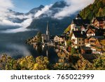 Scenic View Of Famous Hallstat...