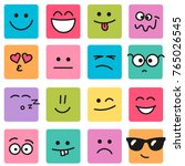 emotional square colorful faces ... | Shutterstock . vector #765026545