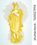 greek goddess  the mythological ... | Shutterstock .eps vector #765027955