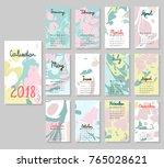 hand drawing vector calendar... | Shutterstock .eps vector #765028621