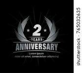 2 years design template.... | Shutterstock .eps vector #765032635