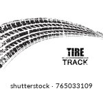 vector tire track background... | Shutterstock .eps vector #765033109