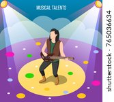 musical talents isometric... | Shutterstock .eps vector #765036634