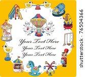 cartoon playground card   Shutterstock .eps vector #76504366