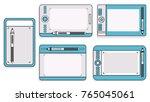 variety of pen tablets | Shutterstock .eps vector #765045061